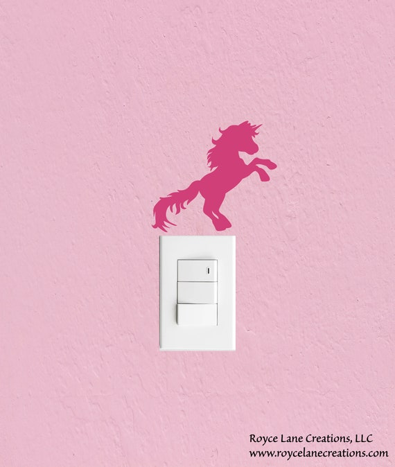 Unicorn Light Switch Decal