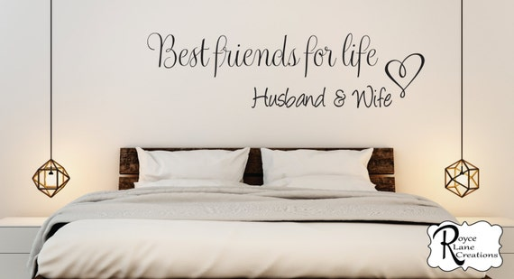 Best Friends for Life Husband and Wife Vinyl Bedroom Wall Decal