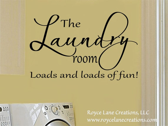 The Laundry Room Loads and Loads of Fun #3 Laundry Wall Decal