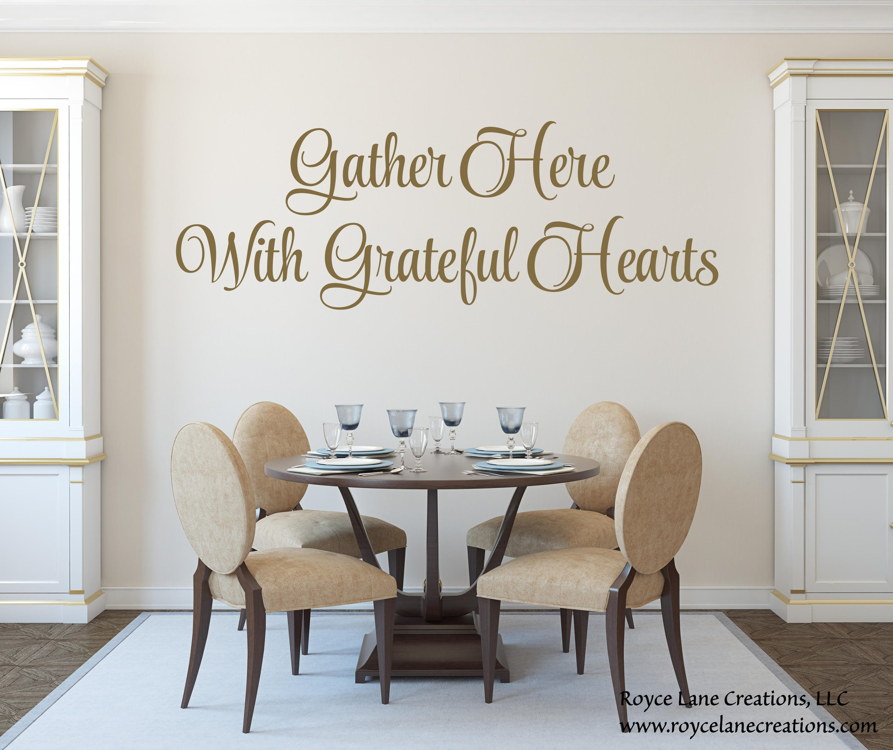 Gather Here With Grateful Hearts Kitchen Or Dining Room Wall Decal