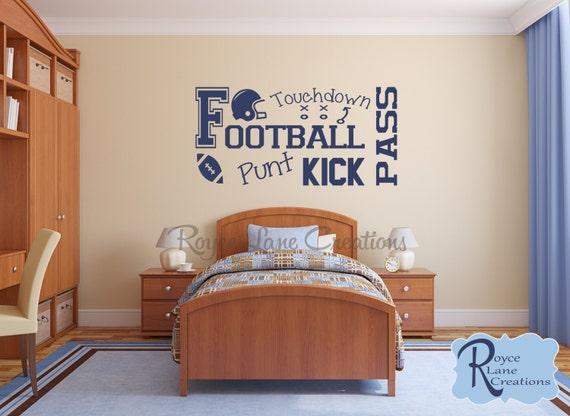 Football Wall Decal for Teen Boy Bedroom