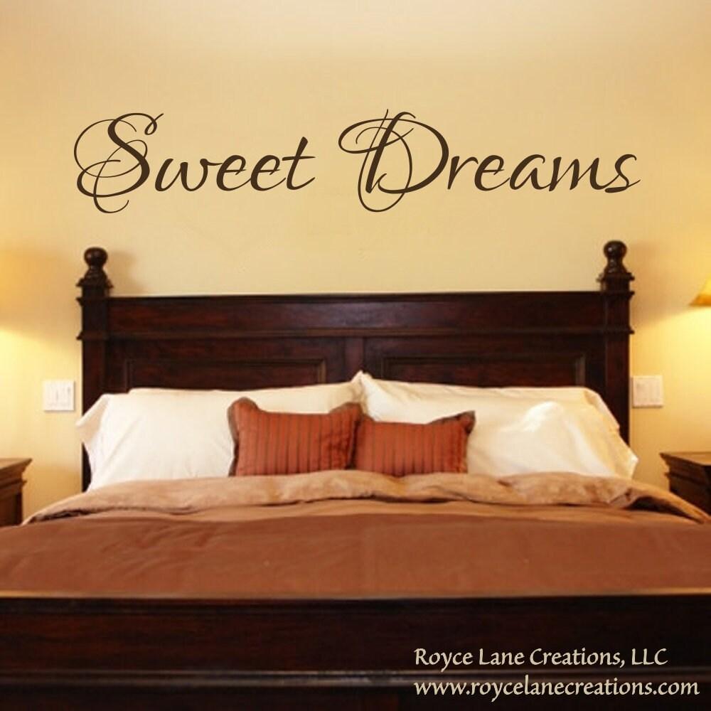 Bedroom Decal - Sweet Dreams Vinyl Bedroom Wall Decal - Bedroom ...