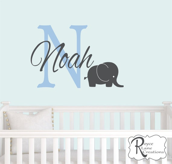 Personalized Name and Initial with Elephant N42