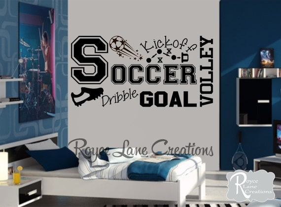 Soccer Wall Decal for Boys Room