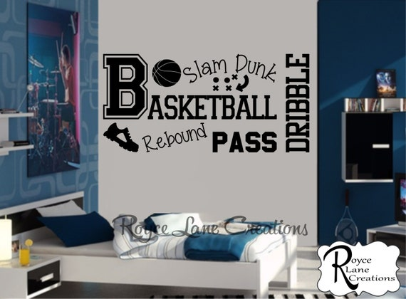 Basketball Wall Decal for Teen Boys Room