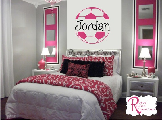 Soccer Ball Soccer Wall Decal B4 for Girls