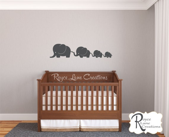 Cute Baby Elephant Wall Decals- 4 Elephant Nursery Decals- Elephant Nursery Wall Decals- Elephant Wall Decal- Baby Elephant Wall Decals