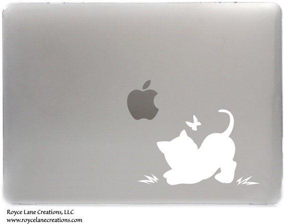 Cat Decal for Macbook, Laptop, iPad, or Car Window