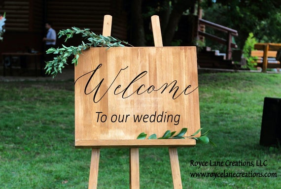 Welcome Wedding Decal