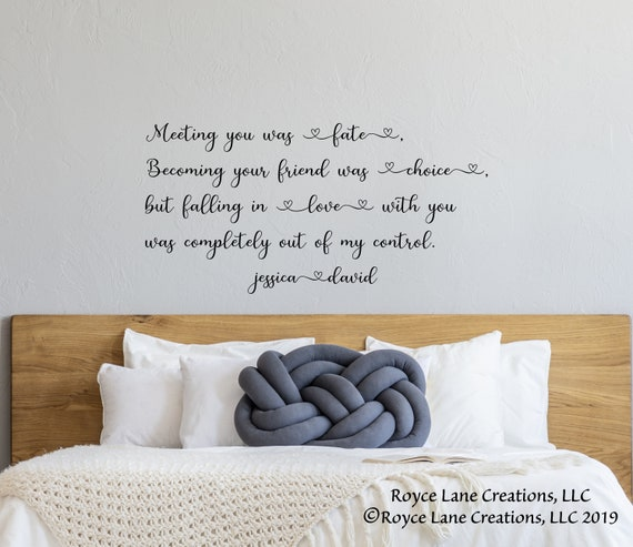 Love Quotes Wall Decal / Bedroom Quotes Wall Decor / Quotes for Bedroom /  Bedroom Wall Decal / Bedroom Wall Sticker / Bedroom Wall Decor
