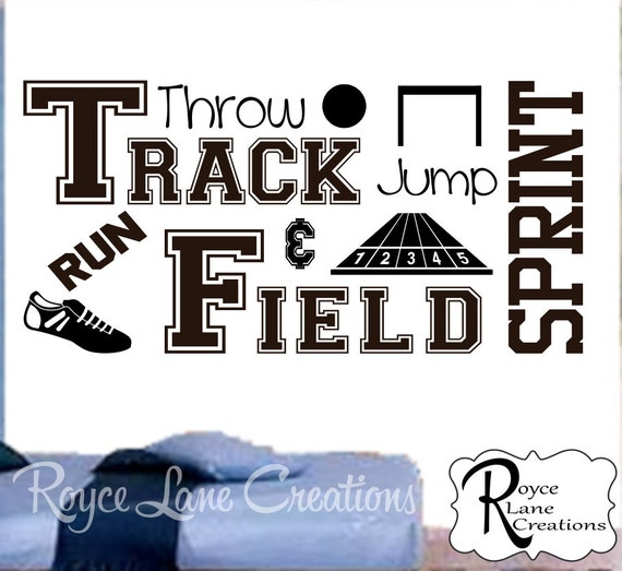 Track and Field Decal B45