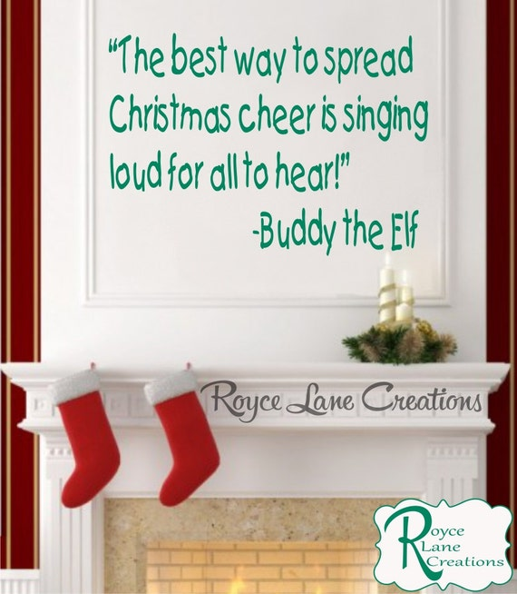 Buddy the Elf Quotes Christmas Decal