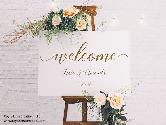 Personalized Welcome Wedding Sign Decal