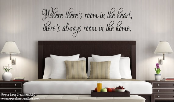 Where There's Room in the Heart Guest Room Quote Wall Decal
