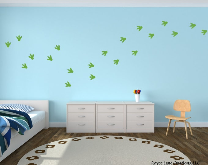 Dinosaur Feet Decal / Dinosaur Feet Prints / Dinosaur Footprints / Dinosaur Footprints Decals / Dinosaur Foot Decals / Dinosaur Tracks