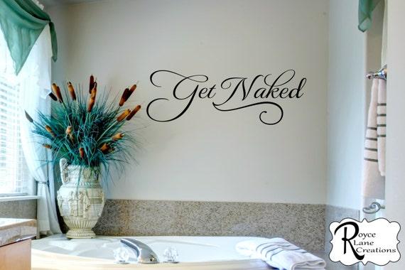 Get Naked 3 Bathroom Wall Decal