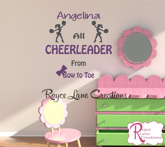 Cheerleader Wall Decal N17 for Toddler Girls Bedroom