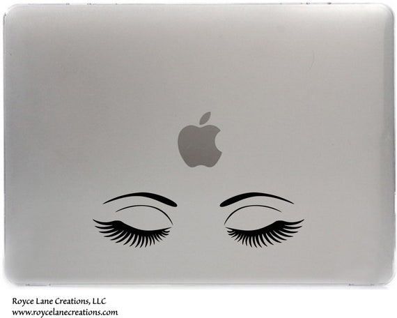 Eyelashes Laptop Sticker