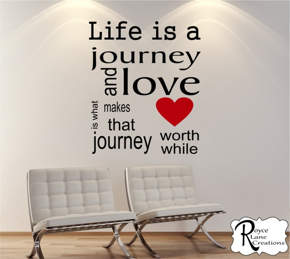 Life is a Journey Inspirational Wall Decal