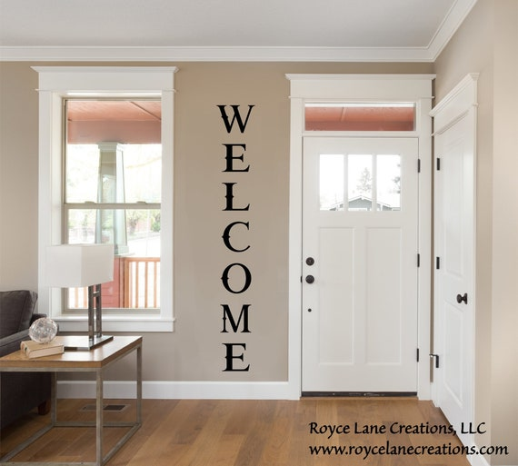 Vertical Welcome Decal