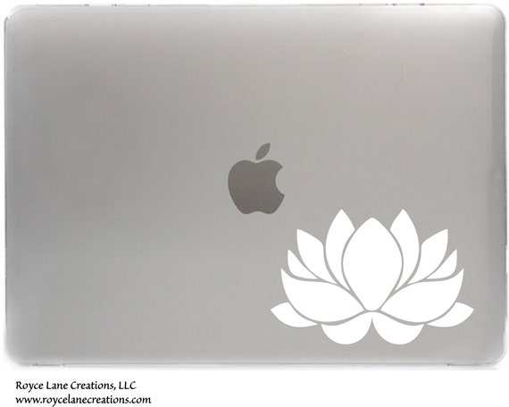 Lotus Flower Decal for Laptop, Car, Wall