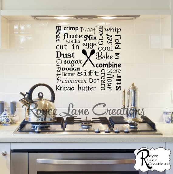 Bakers Kitchen Word Art Baker Wall Decal