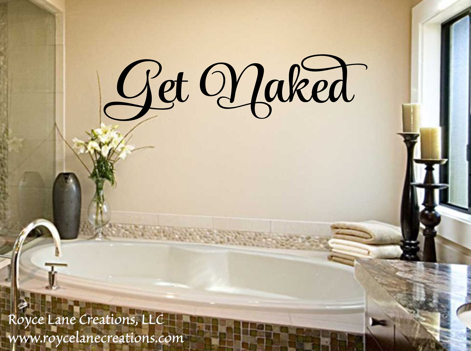 Delicieux Bathroom Decal   Get Naked 2 Bathroom Wall Decal   Bathroom Decor  Bathroom  Wall Decor  Bathroom Art