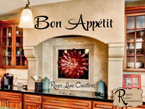 Bon Appetit Kitchen Wall Decal
