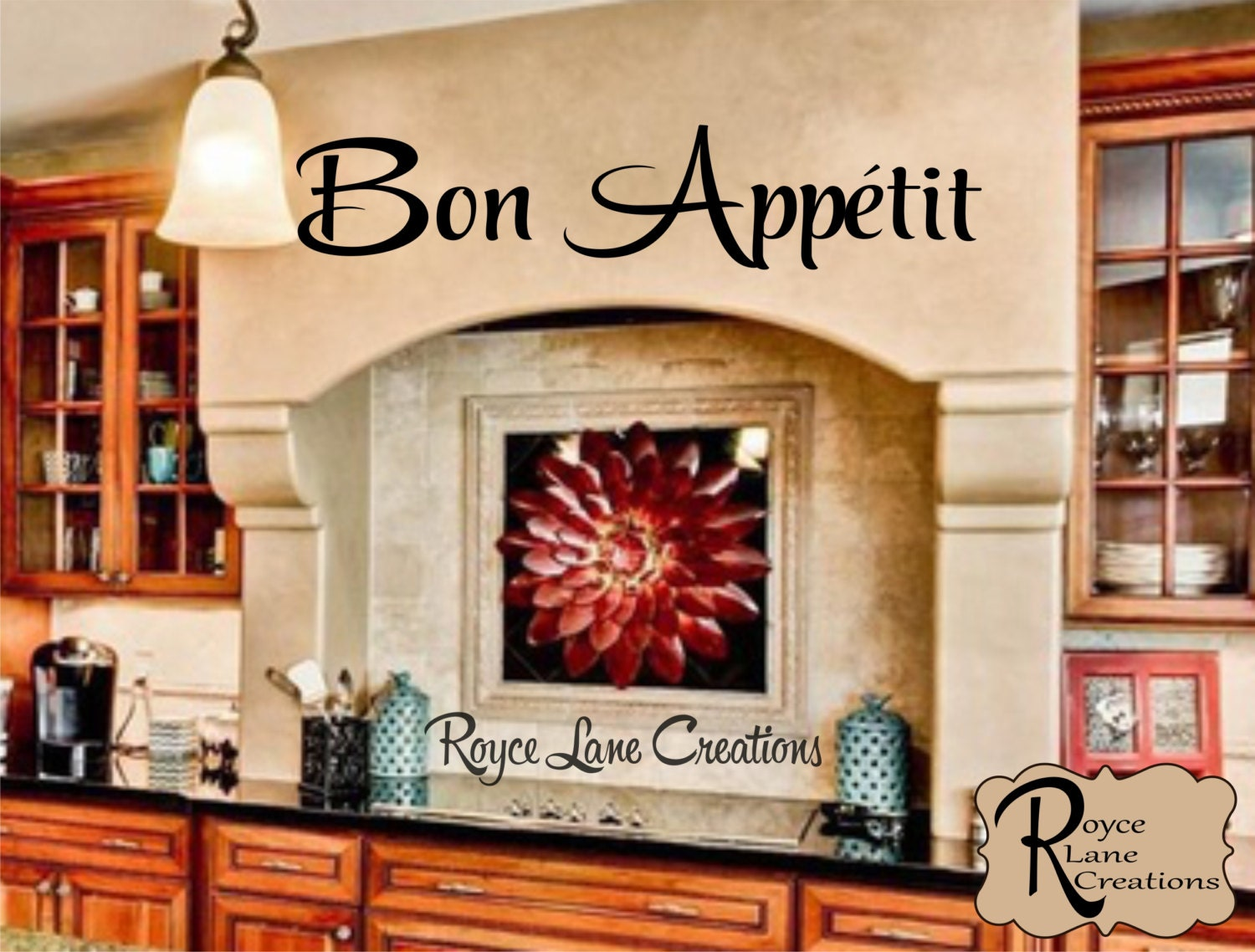 Bon Appetit Kitchen Wall Decal Kitchen Wall Decal   Bon Appetit Decal   Kitchen Decal Kitchen Art  Kitchen Decor
