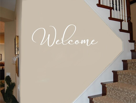 Welcome Decal #3 Welcome Wall Decal