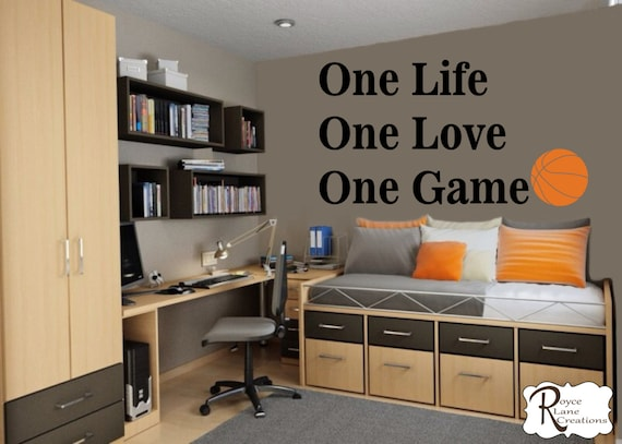 Basketball Quote Wall Decal for Teen Boys Bedroom