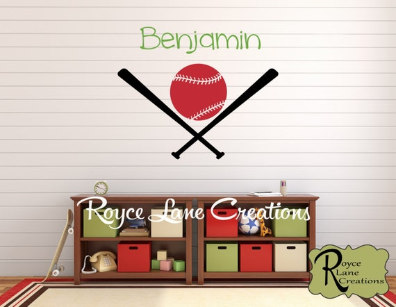 Personalized Name Baseball Decal for Little Boy's Room or for Baby Boy's Nursery