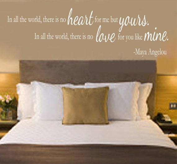 Soul Mate Wall Quote by Maya Angelou Vinyl Bedroom Wall Decal