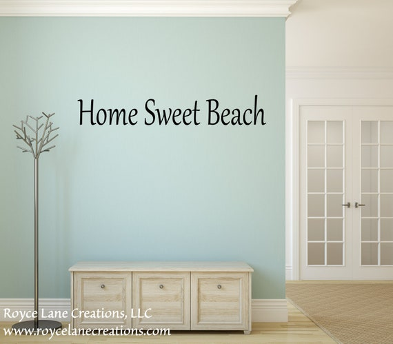 Home Sweet Beach Wall Decal