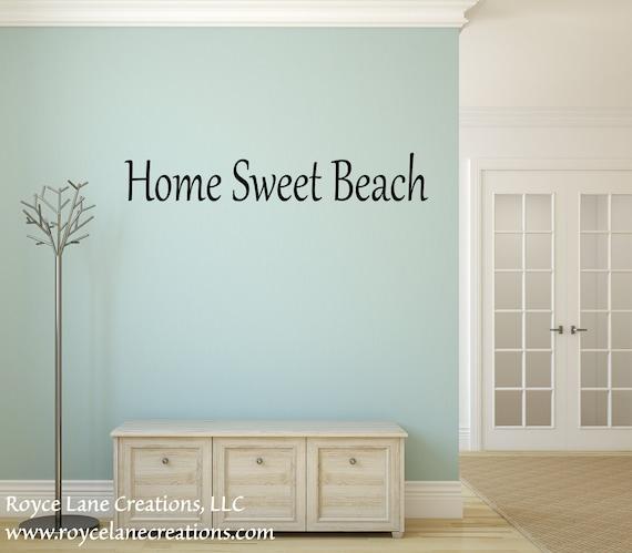 Home Sweet Beach Wall Decal