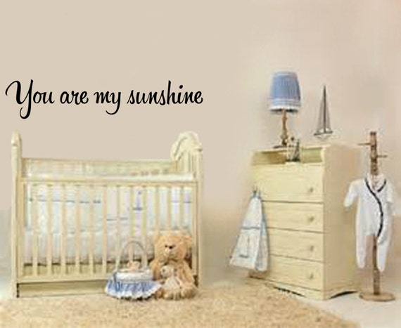 You Are My Sunshine #2 Nursery Wall Decal
