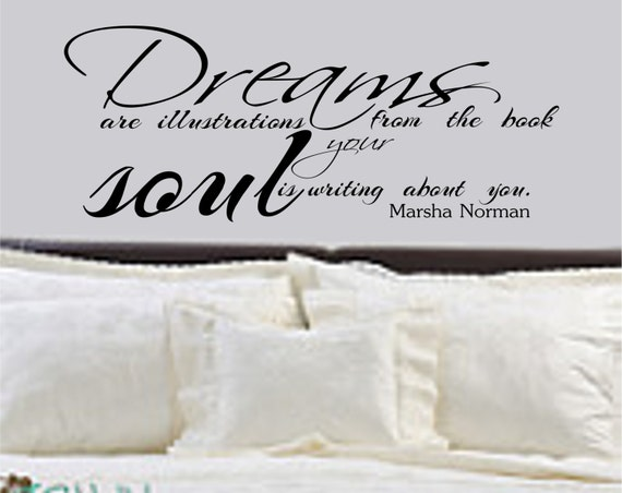 Dreams Are Illustrations From the Book Your Soul is Writing About You Bedroom Wall Decal