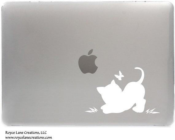 Cat Decal for Macbook, Laptop, iPad, or Car Window