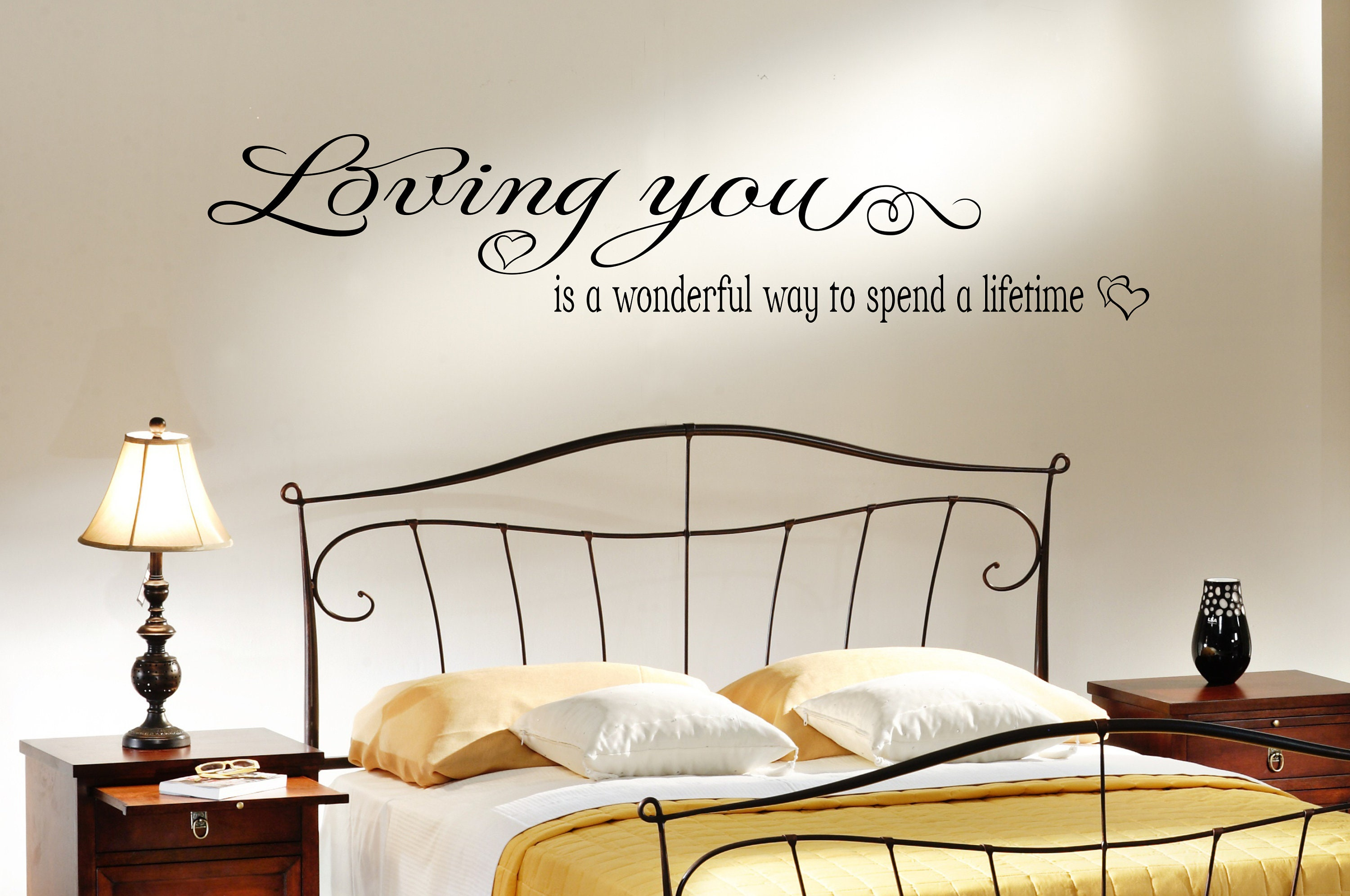 Bedroom Wall Quotes Loving You Love Quotes Decals Love Etsy