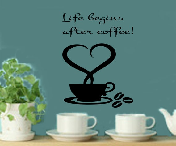 Life Begins After Coffee Decal