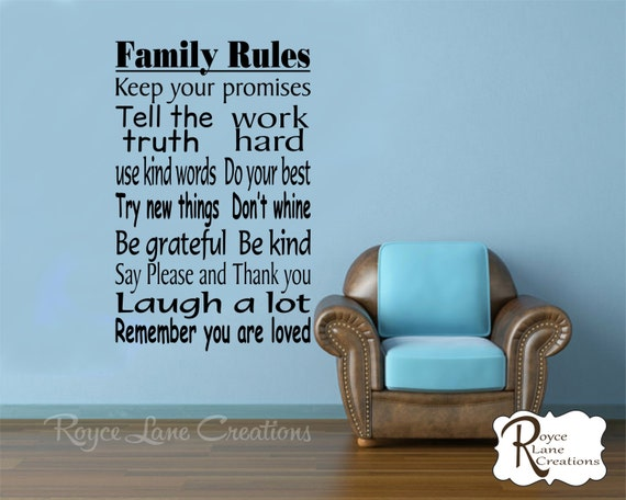 Family Rules Wall Decal 3