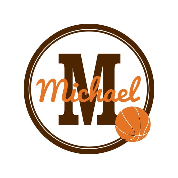 Personalized Basketball Wall Decal for Baby Boy, Toddler Boys, Teen Boys