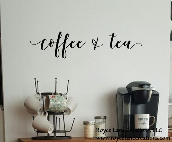 Coffee and Tea Bar Decal