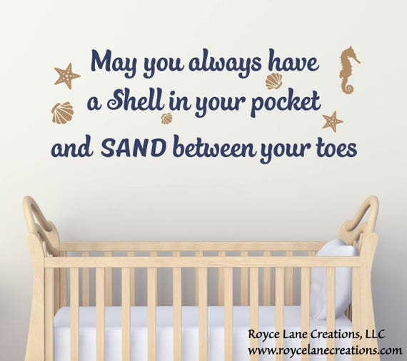 May You Always Have a Shell in Your Pocket Wall Decal - Beach Nursery Wall Decal with Seashells