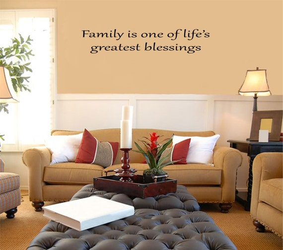 Family is One of Life's Greatest Blessings Vinyl Family Wall Decal