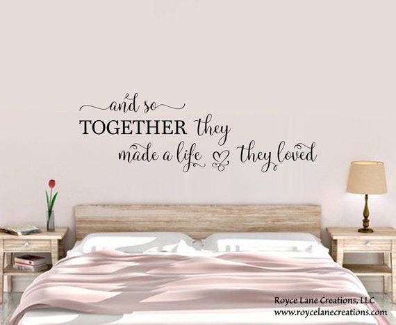 Bedroom Wall Decal And So Together They Built A Life They Etsy