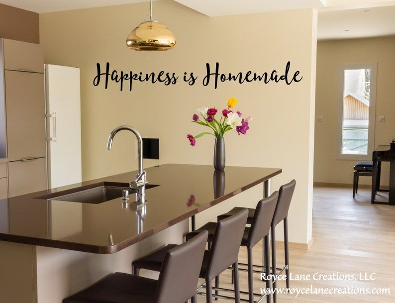 Glück ist hausgemachte Küche Wandtattoo / Küche Dekor / Küche Abziehbilder  / Küche Aufkleber / Wandtattoo Küche Zitate / Vinyl Wall Art