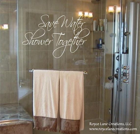 Wandtattoo Badezimmer speichern Wasser Dusche zusammen Bad | Etsy