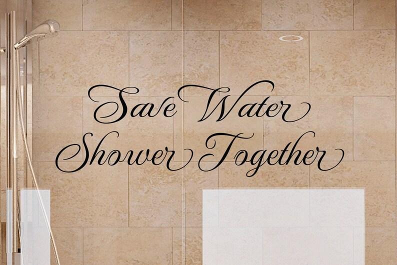 Wandtattoo Badezimmer - speichern Wasser Dusche zusammen 2 Badezimmer  Wandtattoo - Badezimmer Dekor - Badezimmer Dekor-Bad Wandkunst