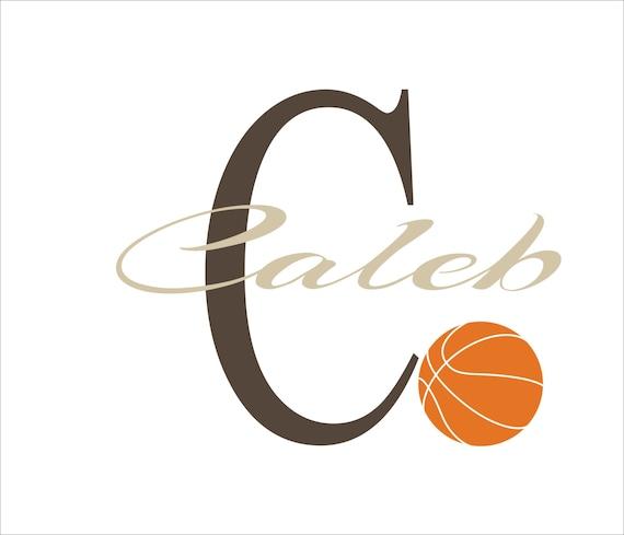 Basketball Decal Personalized N10 - Basketball Art- Basketball Decor-Basketball Sticker-Basketball Name-Basketball Vinyl-Basketball Nursery